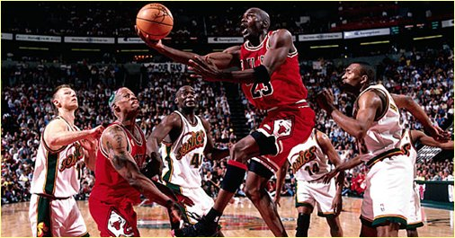 Seattle Supersonics vs. Chicago Bulls - 12 juin 96 - NBA Finals Game 4
