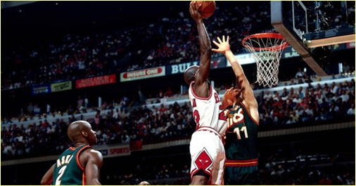 Chicago Bulls vs. Seattle Supersonics - 16 juin 1996 - Finals Game 6