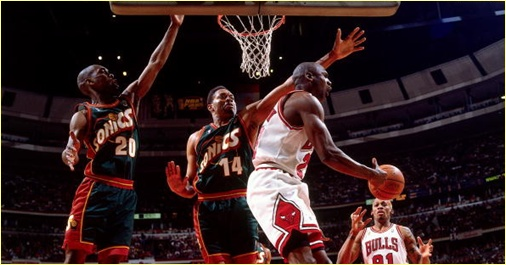 Chicago Bulls vs. Seattle Supersonics - 7 juin 96 - NBA Finals Game 2