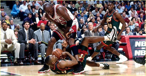 1995-96 Preseason Game - Seattle Supersonics vs. Chicago Bulls
