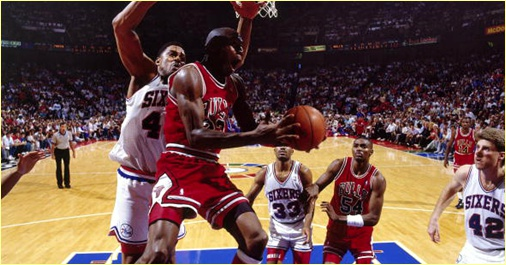 Philadelphia 76ers vs. Chicago Bulls - 13 mai 1990 - Conf. SF Game 4