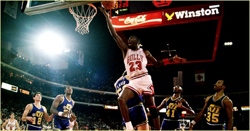 Chicago Bulls vs. Utah Jazz - 8 mars 1990 mai 1996