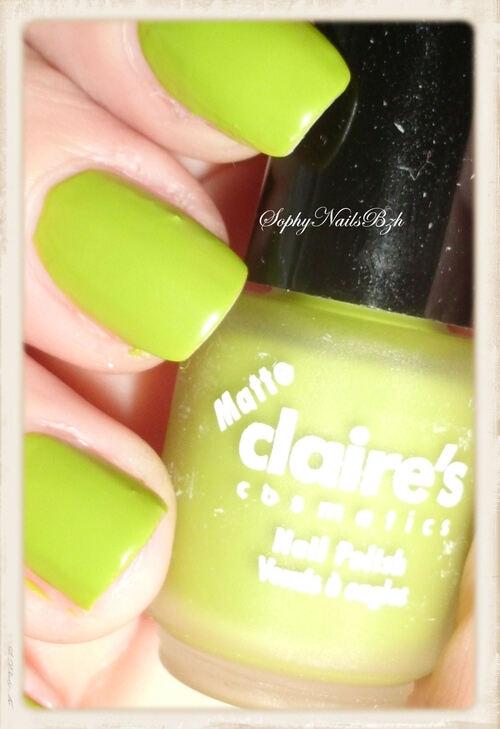 Claire's Vert Mat