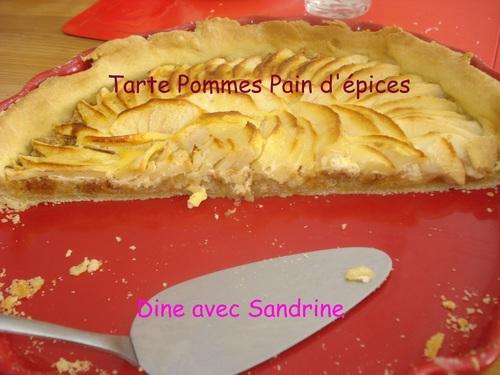Une Tarte aux Pommes et au Pain d'Epices