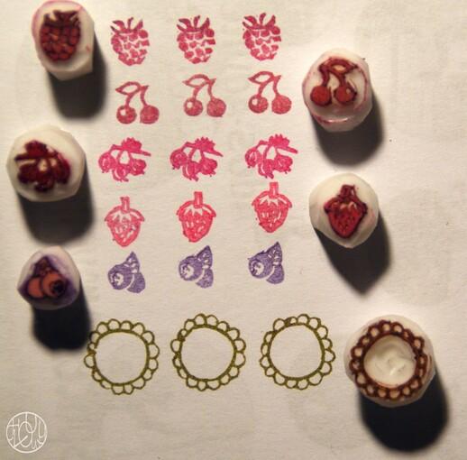 Défi gravure 21/52 - Mini fruits rouges gravés