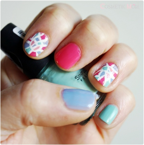 The Sunday Nail Battle : Mosaïc Nail