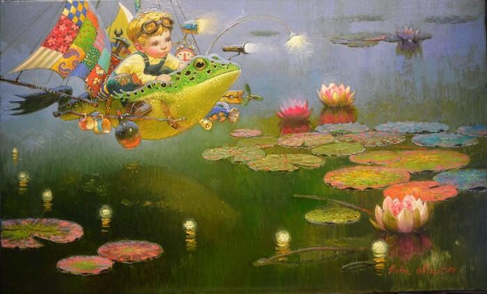 Victor Nizovtsev, 1965   Symbolism / Fantasy painter