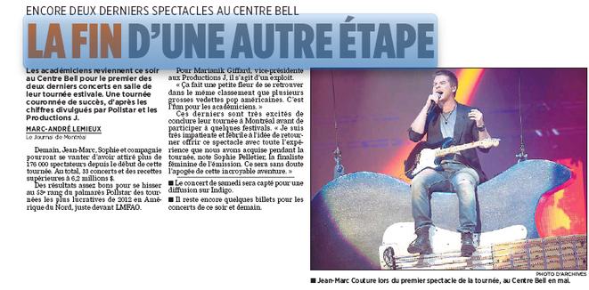 Journal de Montréal - La fin d'une autre étape !