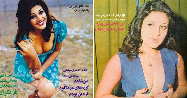 Femmes en Iran protestant contre le port obligatoire du voile après la révolution islamique de 1979.
