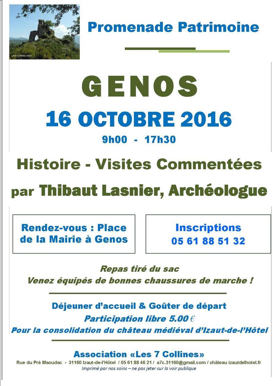 16 Octobre 2016 : Promenade patrimoine à MALVEZIE (31)