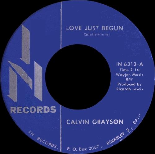 1966 : Calvin Grayson : Single SP In Records IN 6312 [ US ]