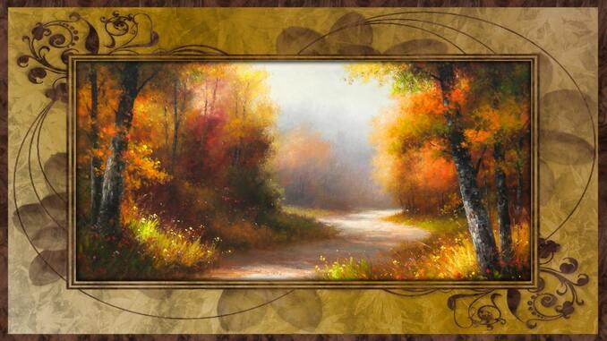 fond automne femme et foret
