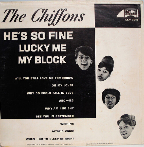 "The Chiffons : Album "" He's So Fine "" Laurie Records LLP 2018 [ US ]"