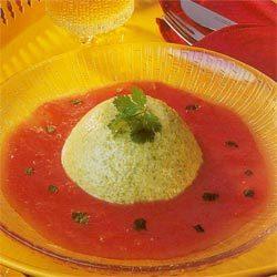 Blog de lisezmoi :Hello! Bienvenue sur mon blog!, La recette du jour - Bavarois de poivrons sur coulis de tomates -
