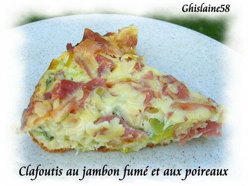 Clafoutis aux poireaux et jambon de bayonne