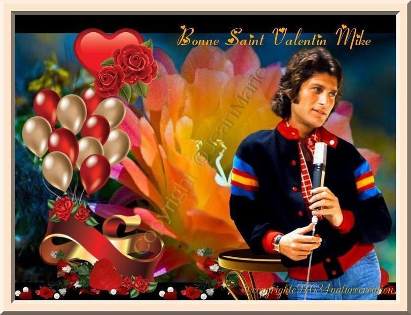 bonne Saint Valentin Mike(attention copie interdite sur ce blog @Copyrigt zigviy(création Jean Marie