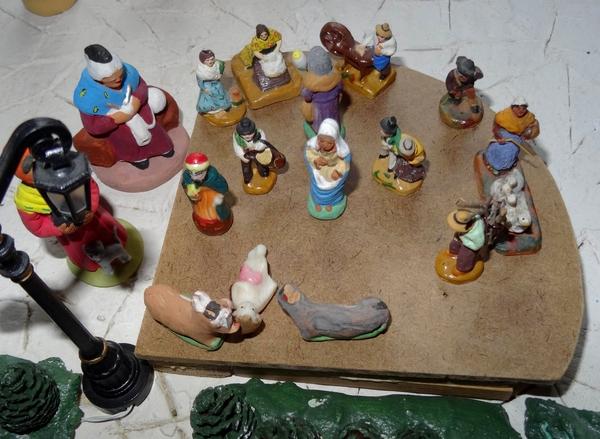 Une magnifique crèche provençale à Recey sur Ource...