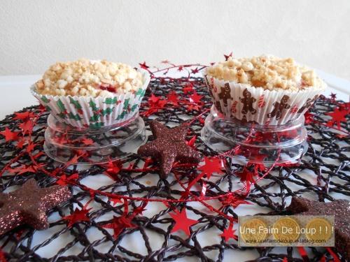 Muffins façon... crumble au fruits rouges
