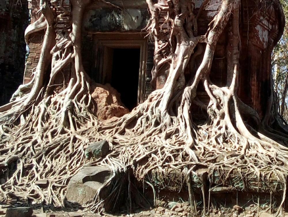 Koh Ker (1) - le Prasat  Pram - Cambodge