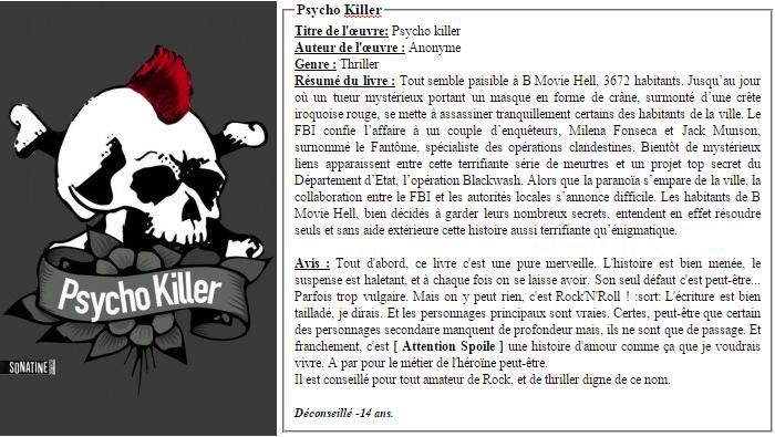 Psycho Killer - Anonyme.
