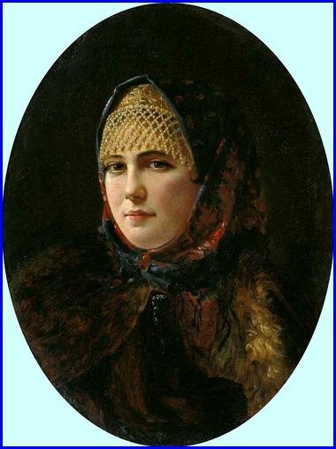 Portrait de jeune fille  Huile sur toile 38 x 28 cm Tuganov Art Museum of the North Ossetian..jpg