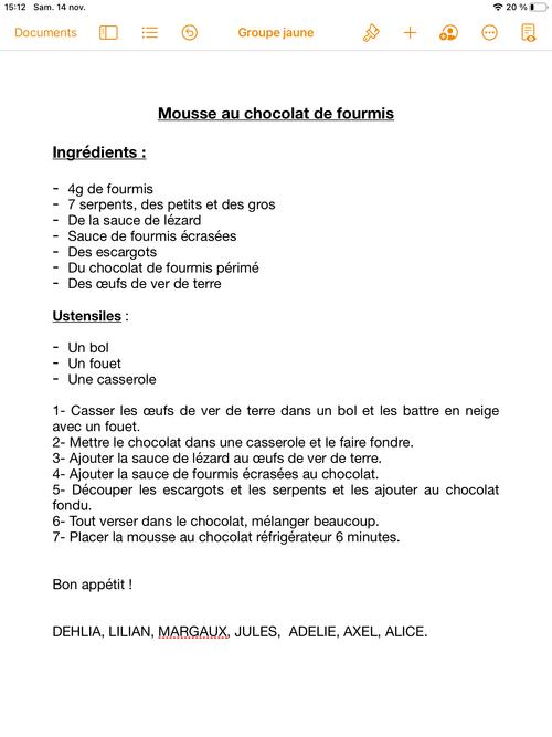 Nos recettes de sorcières