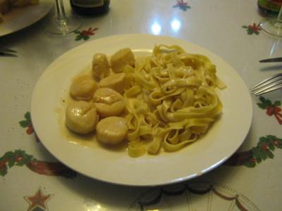 Blog de charlottopoire :Charlottopoire... mes petites créas..., Tagliatelles et coquilles Saint-Jacques à la crème.