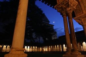 Lune, Jupiter et le cloître de Moissac