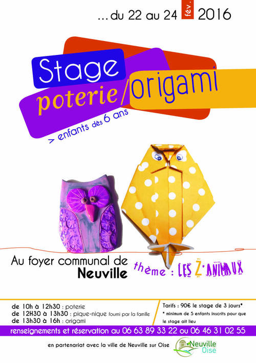 Stage poterie/origami