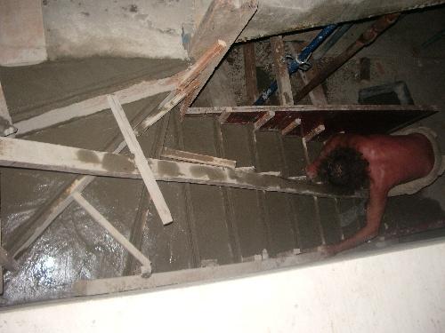decoffrage et seconde partie de l escalier
