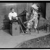 Frances Dinsmore making phonographic recordings with a Blackfoot Chief at the Smithsonian. 1915. Ph