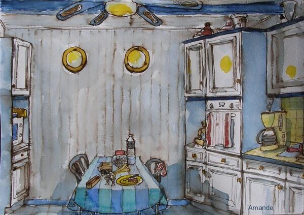 Un coup d'oeil dans le rétro (4) : Ma cuisine