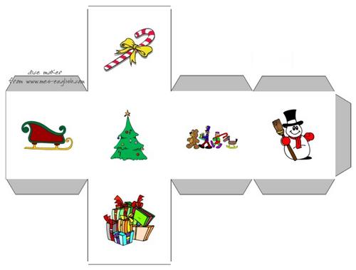 anglais : dés pour s'exprimer sur Noël - Christmas dice