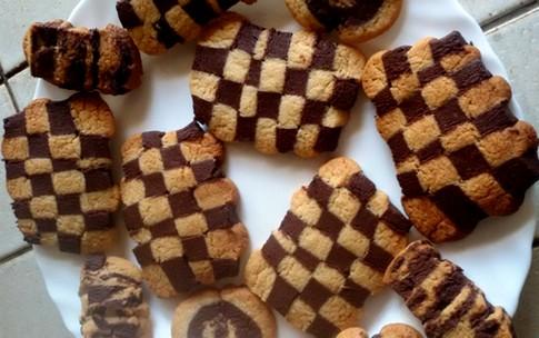 Biscuits damier vanille/chocolat