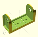 fourche pour servos type MG995 ou MG996R pour montages robotiques