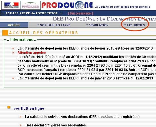 Tester un numéro de tva étranger sur Prodouane