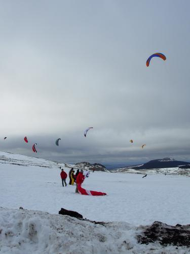 Snowkite aux Estables