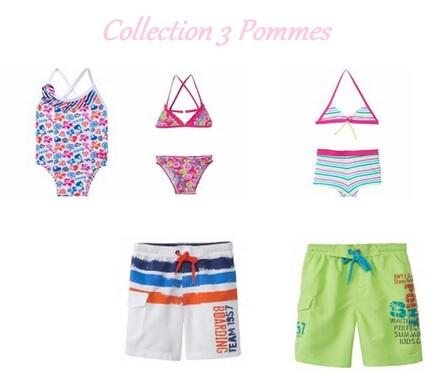 L'été approche, voici une selection de maillot de bain de chez 3 Pommes