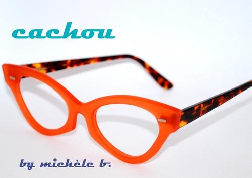 lunette papillon vingtage orange