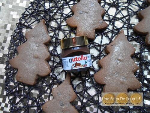 Mes sapins au nutella et pépites de chocolat