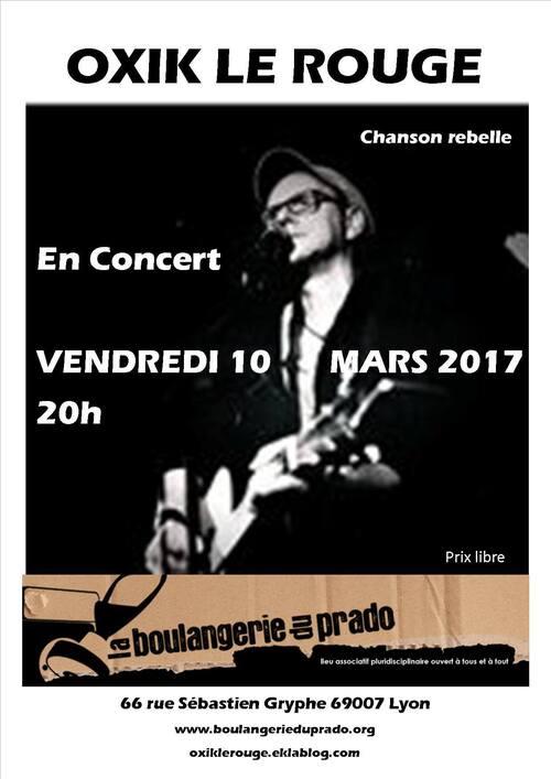 Prochain concert : le 10 mars 2017 à la Boulangerie du Prado