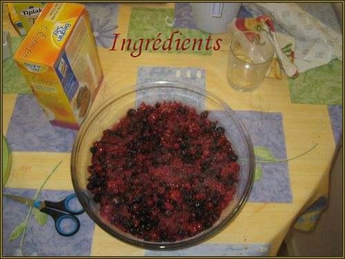 Recette de cuisine : Crumble aux fruits rouges