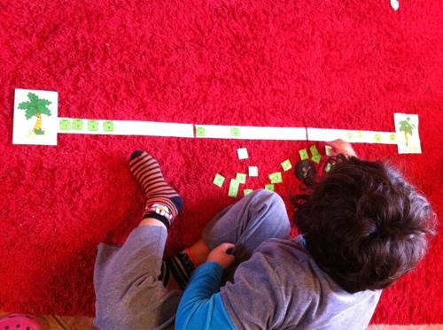 jeux de numération: étendre le linge