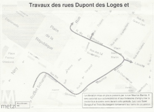 Travaux rues du Coëtlosquet et Dupont-des-Loges (28 avril 2011)