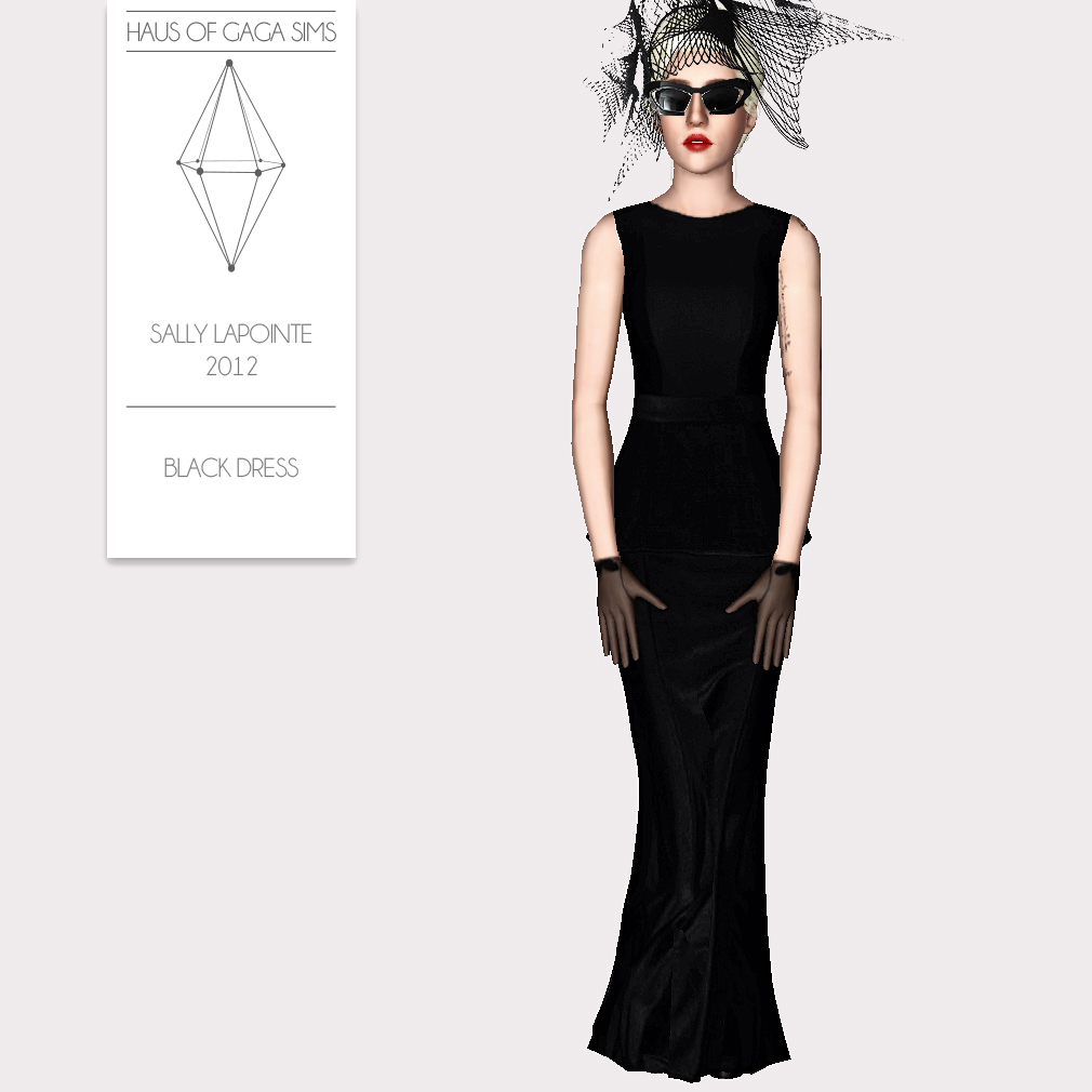 SALLY LAPOINTE 2012 BLACK DRESS