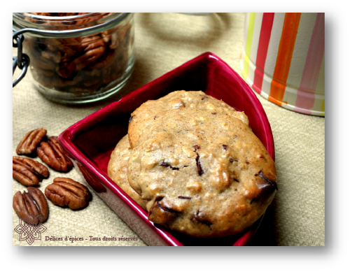 Cookies au fondant d'érable, chocolat et noix de pécan