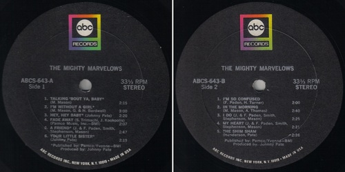 THE MARVELOWS / MIGHTY MARVELOWS