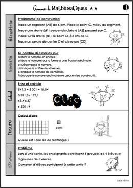 Les gammes de mathématiques - Période 5
