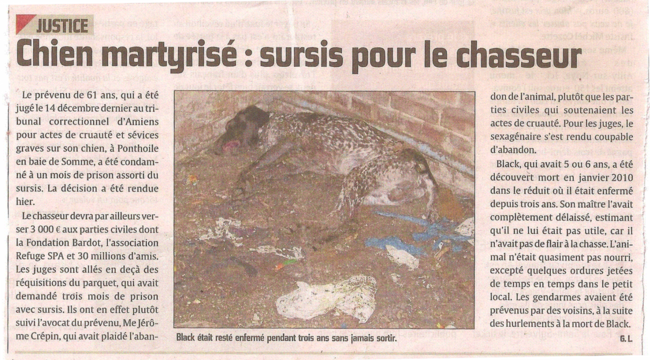 Article du Courrier Picard du 30/12/11