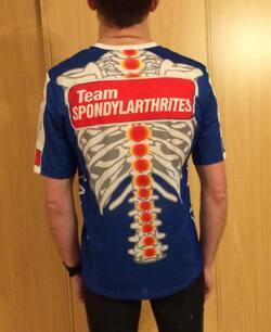 Nico sous les couleurs du Team Spondylarthrites